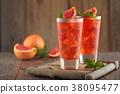 Fresh grapefruit lemonade. 38095477