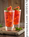 Fresh grapefruit lemonade. 38095478