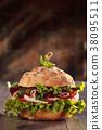 hamburger sandwich italian 38095511