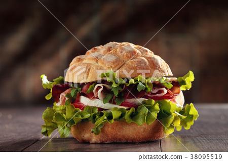 Tasty Italian sandwich. 38095519