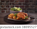 Fried chicken breast 38095527