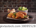 Fried chicken breast 38095528