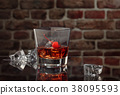 Whisky and cigar. 38095593