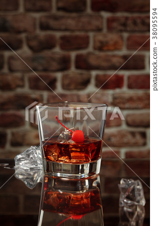 Whisky and cigar. 38095594