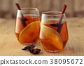 Apple cider with spices. 38095672