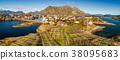 Henningsvaer fishing village on Lofoten islands 38095683