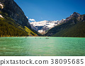 Lake Louise  surrounded by mountain peaks an 38095685