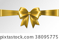 bow, gold, ribbon 38095775