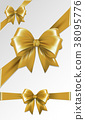 gold, bow, vector 38095776