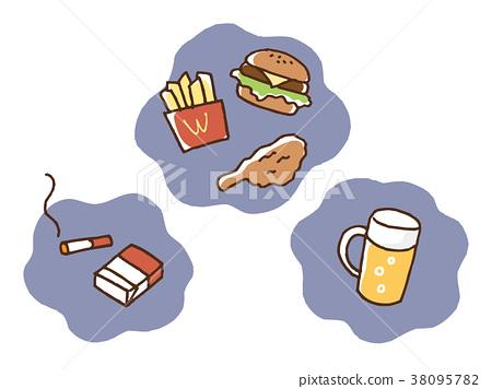 cigarette, tobacco, alcohol 38095782