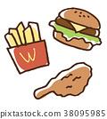 แฮมเบอร์เกอร์ไก่ทอดมันฝรั่ง 38095985