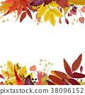 잎, 벡터, 수채화 38096152