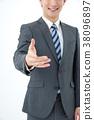 商务人士 商人 男性白领 38096897