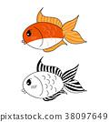 Cute Goldfish 38097649