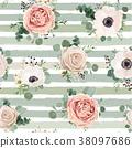 pattern flower rose 38097686