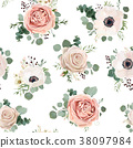 Floral Seamless pattern Vector design 38097984