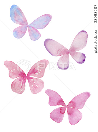 Watercolor illustration of a butterfly 38098307
