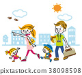 Family travel go out 38098598