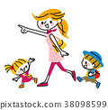 外出 父母和小孩 親子 38098599