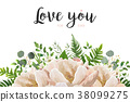 Vector card floral Flower Bouquet design 38099275