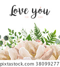 Vector card floral Flower Bouquet design 38099277