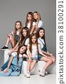 girl, woman, group 38100291