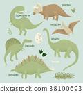 vector, character, stegosaurus 38100693