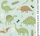 Dinosaurs vector design, tyrannosaurus rex 38100706