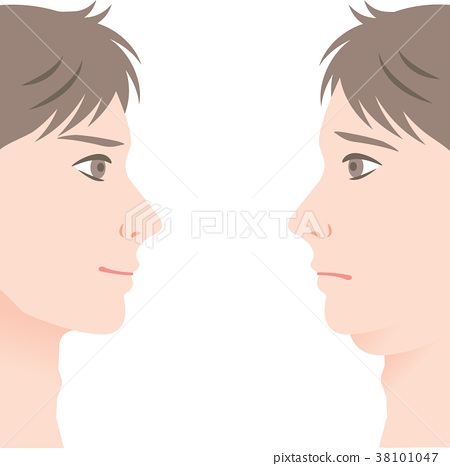 Double chin male before after 38101047