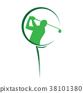 modern golf competition logo 38101380