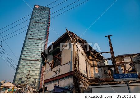 중국 상하이의 재개발 지역 38105329
