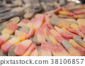 tranditional candies in confectionery store 38106857
