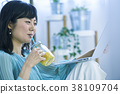 female, lady, woman 38109704