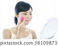 여성, 여자, 거울 38109873