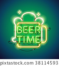 Beer Time Neon Sign 38114593