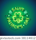 St Patricks Day Neon Sign 38114612