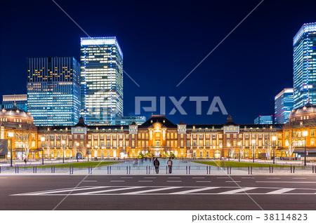 东京站车站夜景 38114823