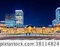 东京站车站夜景 38114824