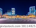 东京站车站夜景 38114825