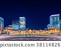 东京站车站夜景 38114826
