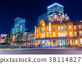 Tokyo Station Station night view 38114827
