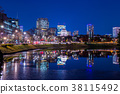 樱花夜间的东京夜景(从Sakuradamon前面向国民议会大楼) 38115492