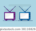 old television flat design vector background 38116826
