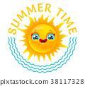 vector, summer, sunshine 38117328