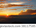 mountain, sunset, sea 38117585
