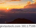 mountain, sunset, sea 38117586