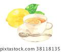 레몬 티 수채화 38118135
