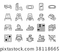 Game and entertainment line icon set 38118665