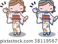 和服 日式服裝 一個年輕成年女性 38119567