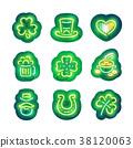 Glowing Neon Patricks Sticker Pack 38120063